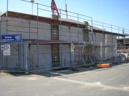 2007-Erweiterung der Lagerkapazität im Hochregallager Haustechnik um ca. 500 Paletten Stellplätze
