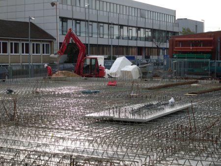 Baustahl/Stabsathl - Verlegung von Bewehrung für eine neue Lagerhalle am Standort Pulverweg